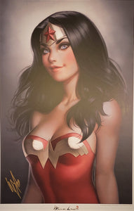 YOUNG WONDER WOMAN SIGNED PRINT WITH COA