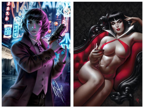 BLADE RUNNER/VAMPIRELLA #1 WARREN LOUW STORE EXCLUSIVE SET