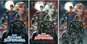 BATMAN SUPERMAN #1 SET SIGNED WITH COA