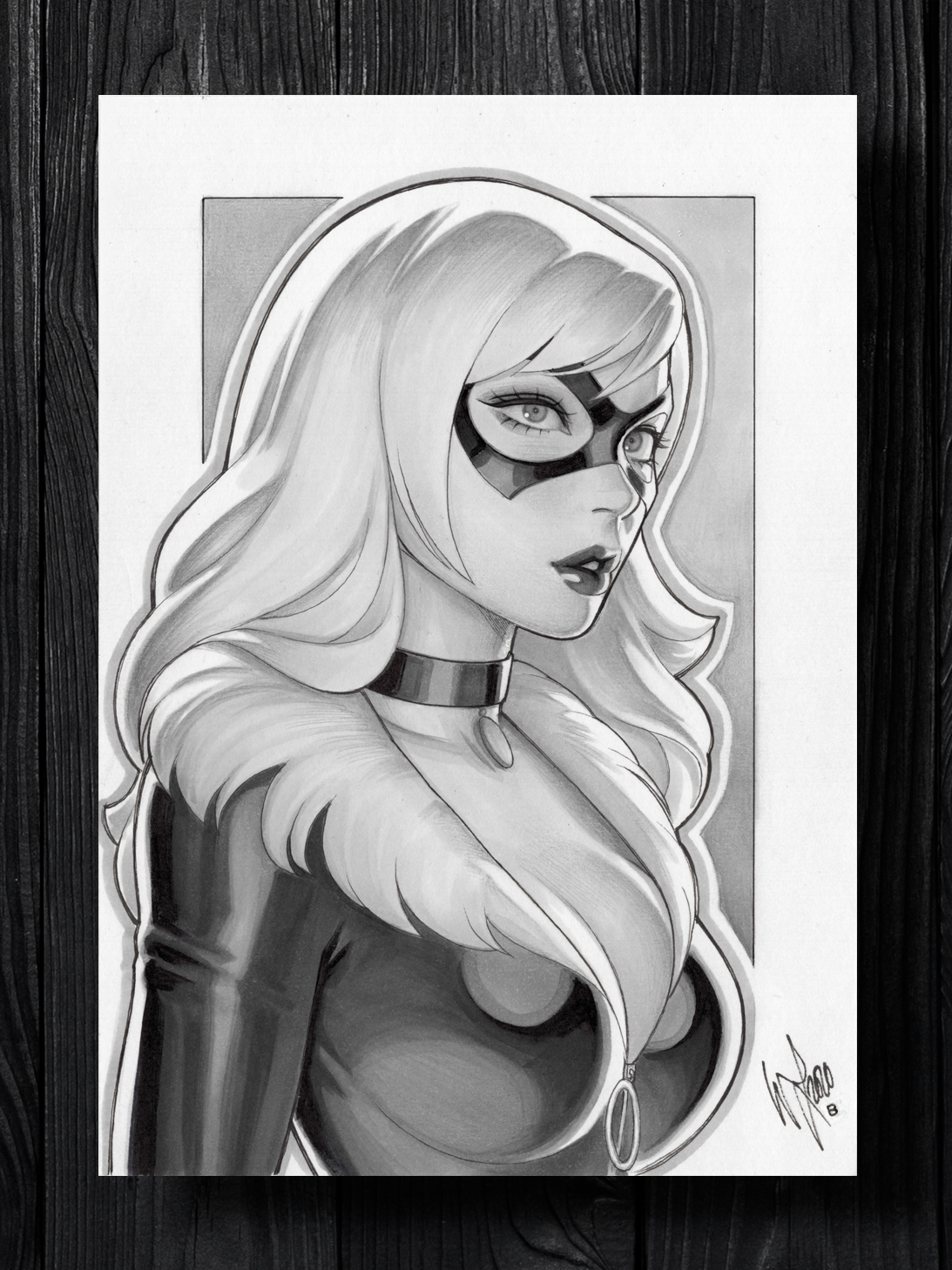 Black Cat Original Art Version B