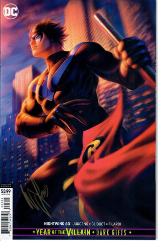 NIGHTWING #63 SIGNED WITH COA