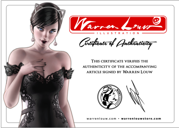 RED SONJA VAMPIRELLA BETTY VERONICA #1 WARREN LOUW EXCLUSIVE SIGNED WITH COA