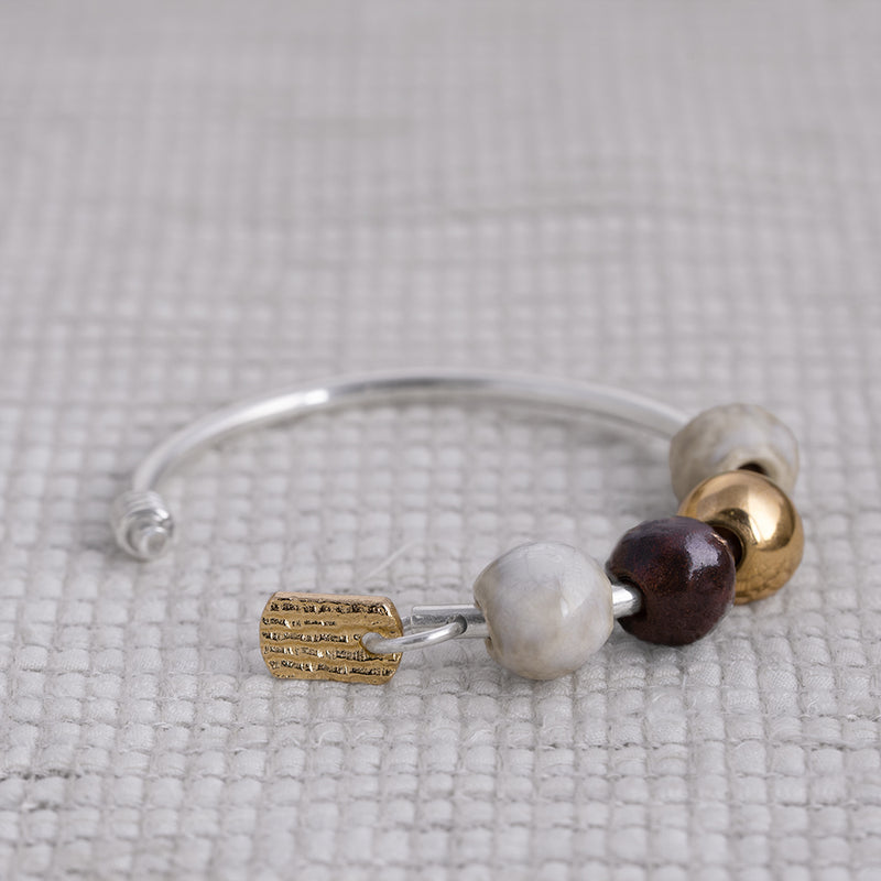 Gyokuro Bangle 18k Yellow Gold [Collaboration with Tomo Kishida]