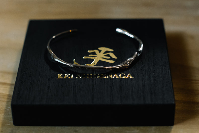 Satsuki Bangle 18k White Gold [For Acacia 1 Year Anniversary]