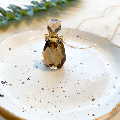 Smoky Quartz I Gemstone Bottle Necklace