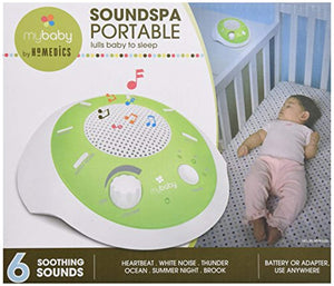 myBaby SoundSpa Portable Machine, Portable for New Mother or Traveler