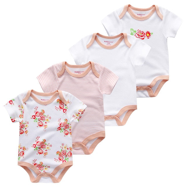 Newborn Boys/Girls 4Pcs/set Short Sleeve
