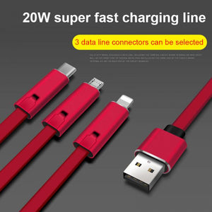 Renewable Data Sync & Fast Charger USB Cable (iPhone, Android, Type-C)