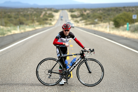 Spencer Miller in Tucson before climbing Kitt Peak