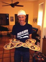 Tom Danielson serving up Arizona nutrition at camp in Rollfast style.