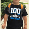 100th day of school - 100 days smarter hockey sports youth shirt - gst