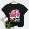 100th day of school - 100 days of magical learning flossing unicorn t-shirt for kids for teachers - gst