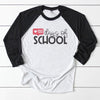 100th day of school - 100 days of school teacher raglan shirt - gst