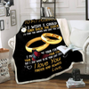 Customize To My Husband I Wish I Could Turn Back The Clock Blanket Gift For Husband