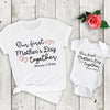 G2 Personalized our first mothers day together shirts Mom and baby shirt