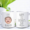 Personalized Happy First Father Day Baby's Name And Picture Mug Gift For Dad