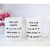 Personalized New Dad New Mom Mug Pregnancy Announcement Gift