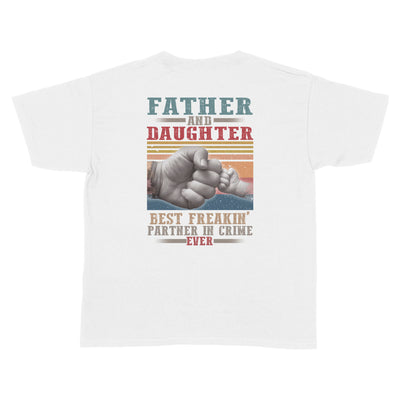 Father And Daughter Best Partner In Crime White Youth T-Shirt