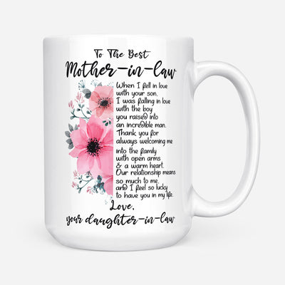 Daughter In Law To Mother In Law - Thank You For Always Welcoming Me Mug