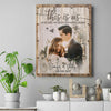 (Personalized Canvas with name, date and photo) This Is Us Vertical Canvas - Gift for wife, Anniversary gift