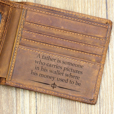 A Father Is Someone Who Carries Pictures Wallet Gift For Dad