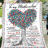 To My Mother In Law From Daughter In Law Tree Love Blanket - Mother In Law Blanket