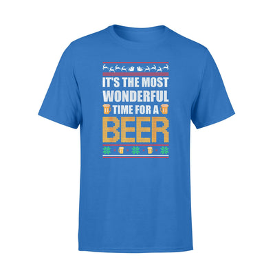 Christmas Gift Idea It's The Most Wonderful Time For A Beer Ugly Shirt Christmas Gift