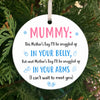Mummy Snuggled Up With You Ornament Gift For Mum