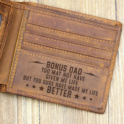 Bonus Dad You Sure Made My Life Better Wallet Gift For Stepdad