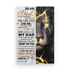 To Dad You Laid Eyes On Me From Son Lion Poster Gift For Dad