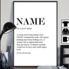 Personalized Mom Definition Poster Canvas