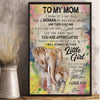 Personalized Elephant Mom It's Not Easy To Raise A Child Poster Canvas