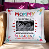 Personalized Mommy Kiss Me Goodnight Canvas Pillow Gift For Mom