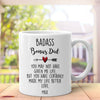Personalized Badass Bonus Dad Mug Gift For Dad
