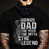 Dad The Lion The Man The Legend Black T Shirt Gift For Stepdad