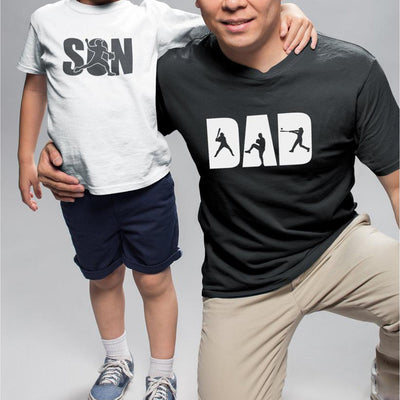 Dad And Son Baseball Matching Shirts Dad - Dad And Baby Gift