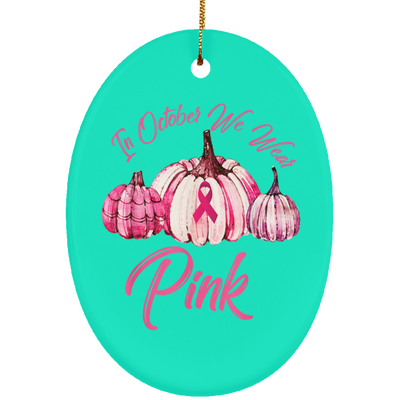 Breast cancer awareness ceramic ornament ceramic ornament decorations gift for