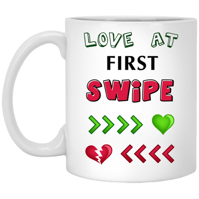 Love At First Swipe Mug Gift For Him For Her
