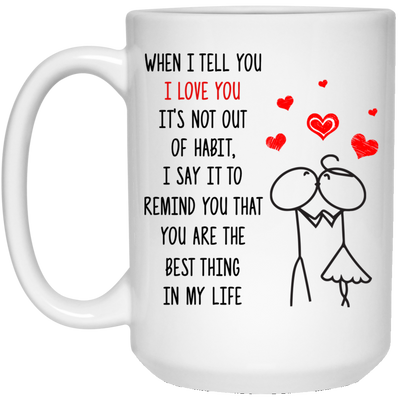 I Love You Mug Gift For Her For Him