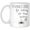 Thanks Dad For Killing All Those Spiders Mug Gift for Dad