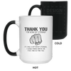 Punch Him In The Face Stepdad White Changing color Mug