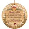 Gift For Mom I Love You Forever Christmas Decoration Ornament