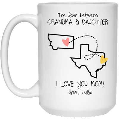 The Love Between Grandma And Daughter Mug Gift For Grandma
