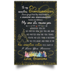 To My Beautiful Granddaughter My Love Will Follow You Poster Gift For Granddaughter
