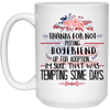 Gift For Future Parents In Law Thanks For Not Putting My Boyfriend Up For Adoption Mug