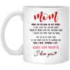 Thank You For Being The Best Mother Mug Gift For Mom