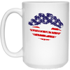 Us Flag Kiss Lip Mug Gift For Him