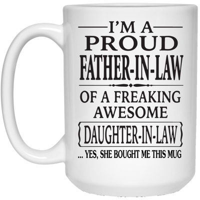 I'm Proud Father-in-law Of A freaking Awesome Daughter-in-law  Gift For Dad