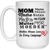 Mother Means Love In Every Language Mug Gift For Mom