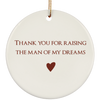Thank You For Raising My Man Ornaments Christmas Gift For Mother In Law